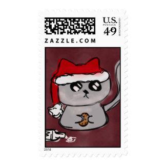Santa Kitty Stamps