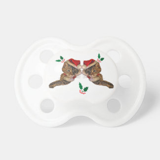 Santa Kitty with Holly Pacifier