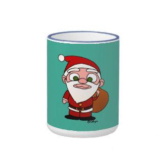 Santa Klaus Ringer Coffee Mug
