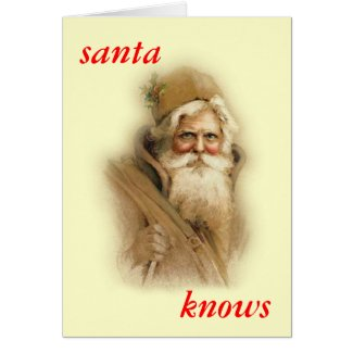 santa knows...