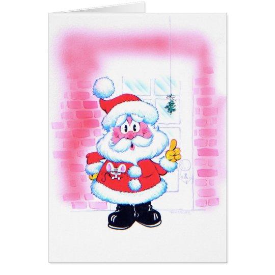 Santa Knows Chrismas Card