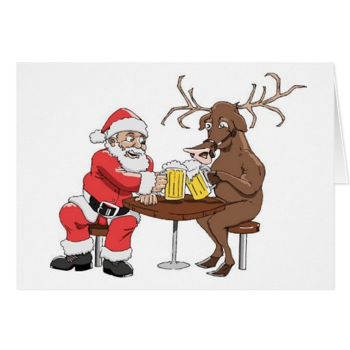 Santa Knows How To Party Card