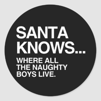 SANTA KNOWS WHERE ALL THE NAUGHTY BOYS LIVE -.png Sticker