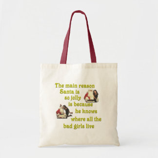 Santa Knows Where the Bad Girls Live Budget Tote Bag