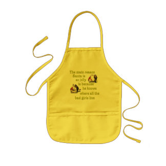 Santa Knows Where the Bad Girls Live Kids' Apron