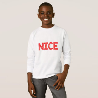 Santa Knows...... Who's Nice Unisex Kids shirt