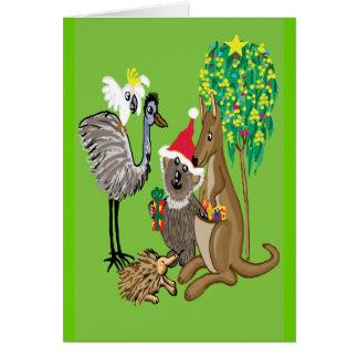 Santa koala greeting card