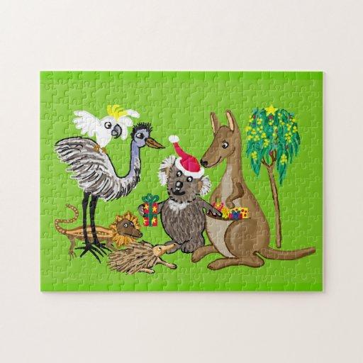 Santa Koala Christmas presents Jigsaw Puzzles