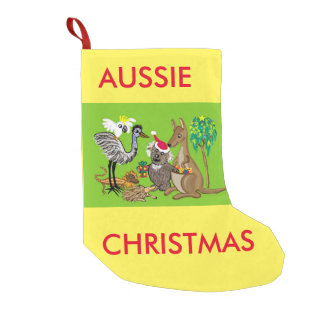 Santa koala small christmas stocking