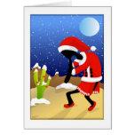 Santa Kokopelli Desert Christmas Card