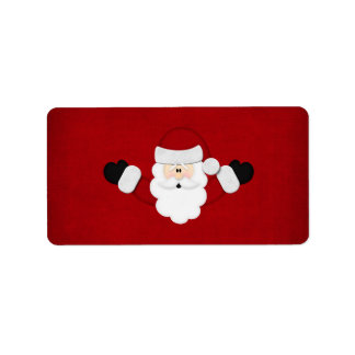Santa Custom Address Label