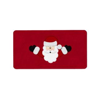 Santa Custom Address Labels