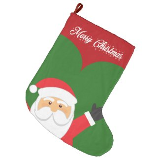 Santa Large Christmas Stocking