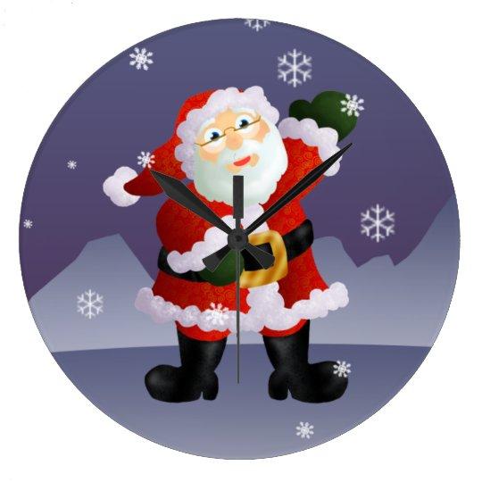 Santa Large Clock