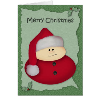 Santa Large Print Christmas Card