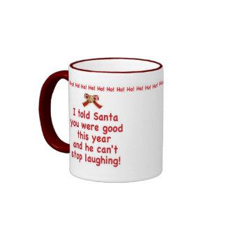 Santa Laughing Mug