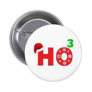santa laughs at christmas button