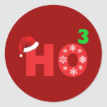 santa laughs at christmas classic round sticker