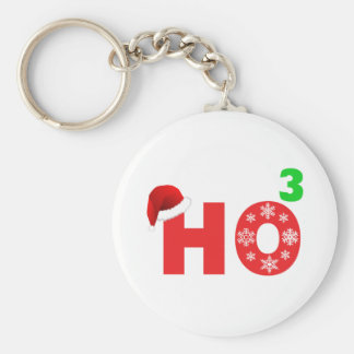 santa laughs at christmas keychain