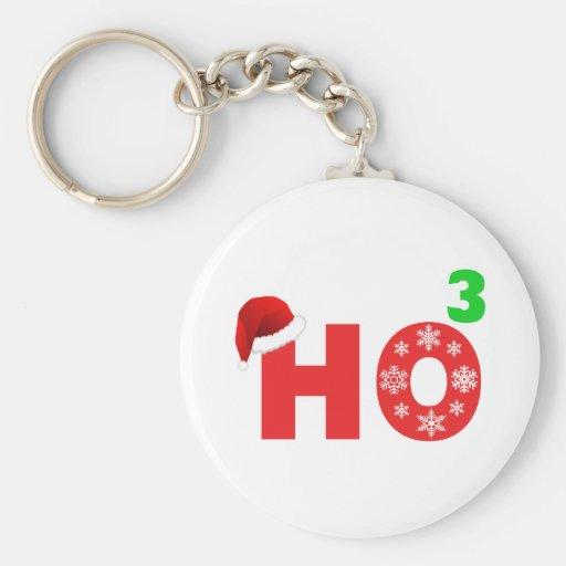 santa laughs at christmas key chain