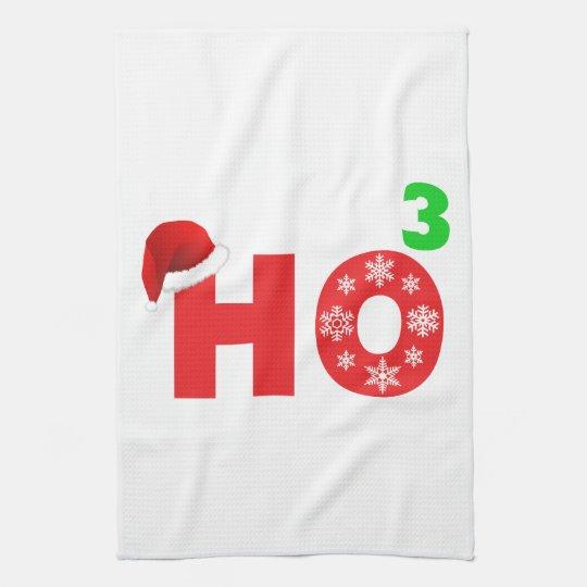 santa laughs at christmas kitchen towel