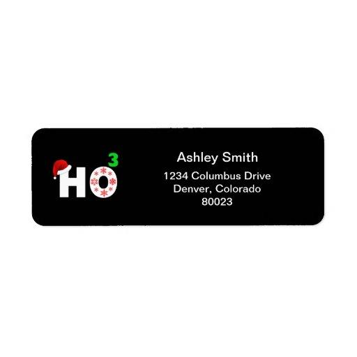 santa laughs at christmas custom return address label
