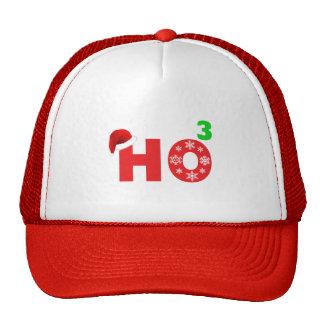 santa laughs at christmas trucker hat