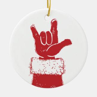 Santa le ama ornamento ornamente de reyes