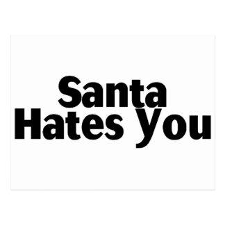 Santa le odia tarjetas postales