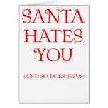 Santa le odia tarjetón
