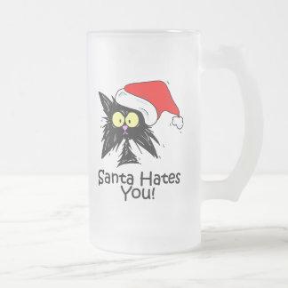 Santa le odia taza de café