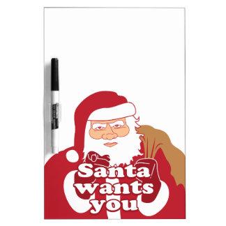 Santa le quiere tableros blancos