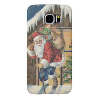 Santa Leaving House Christmas Tree Samsung Galaxy S6 Case