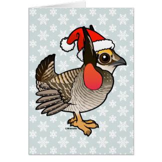 Santa Lesser Prairie-Chicken Card