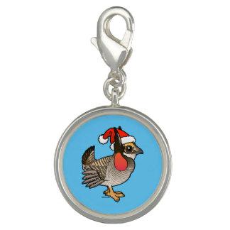 Santa Lesser Prairie-Chicken Charm