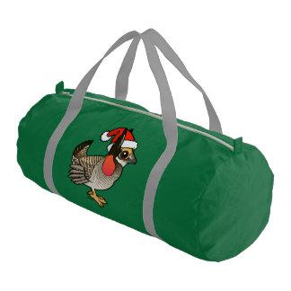 Santa Lesser Prairie-Chicken Gym Bag