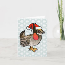 Santa Lesser Prairie-Chicken Holiday Card