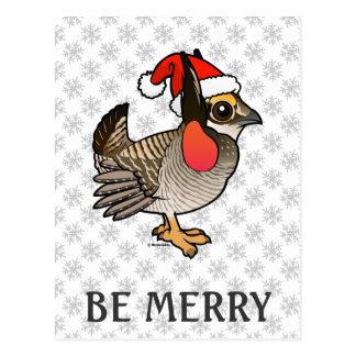 Santa Lesser Prairie-Chicken Postcard