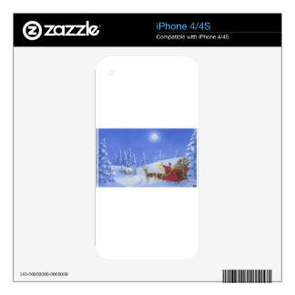 Santa Lights The Way Decals For The iPhone 4
