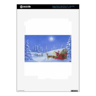 Santa Lights The Way Skins For iPad 3