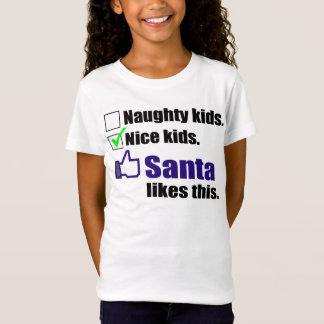 Santa Likes Nice Kids T-Shirt