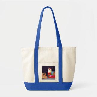 Santa lindo con el reno bolsas