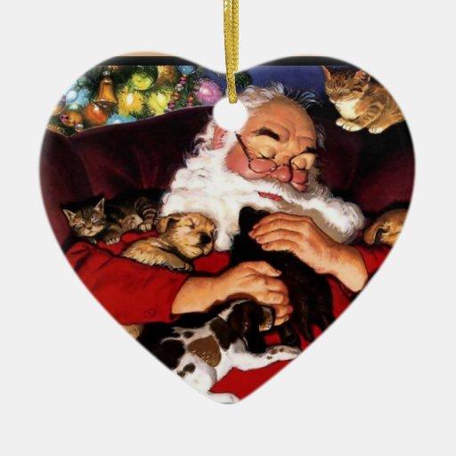 Santa lindo Napping Adorno De Navidad