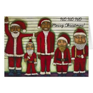 Santa Line Up Card at Zazzle