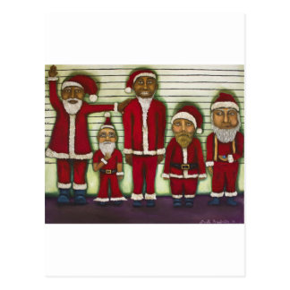 Santa Line Up Postcards