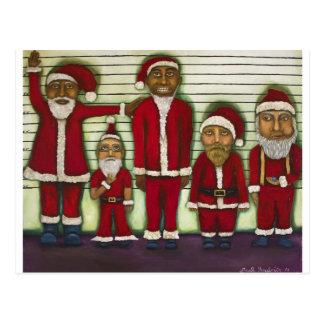 Santa Line Up Postcard
