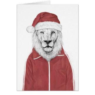 Santa lion card