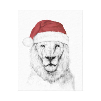 Santa lion II Canvas Print