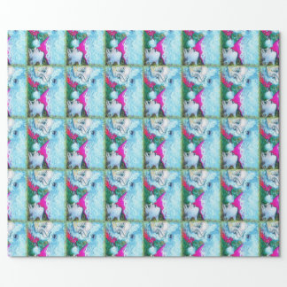 Santa Little Girl Wrapping Paper