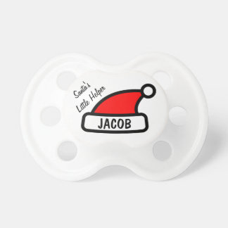 Santa Little Helper baby name pacifier | Christmas
